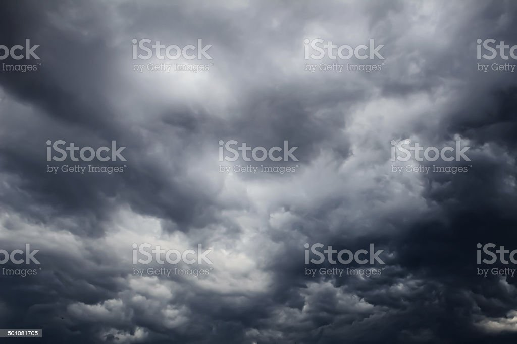 Dark clouds stock photo