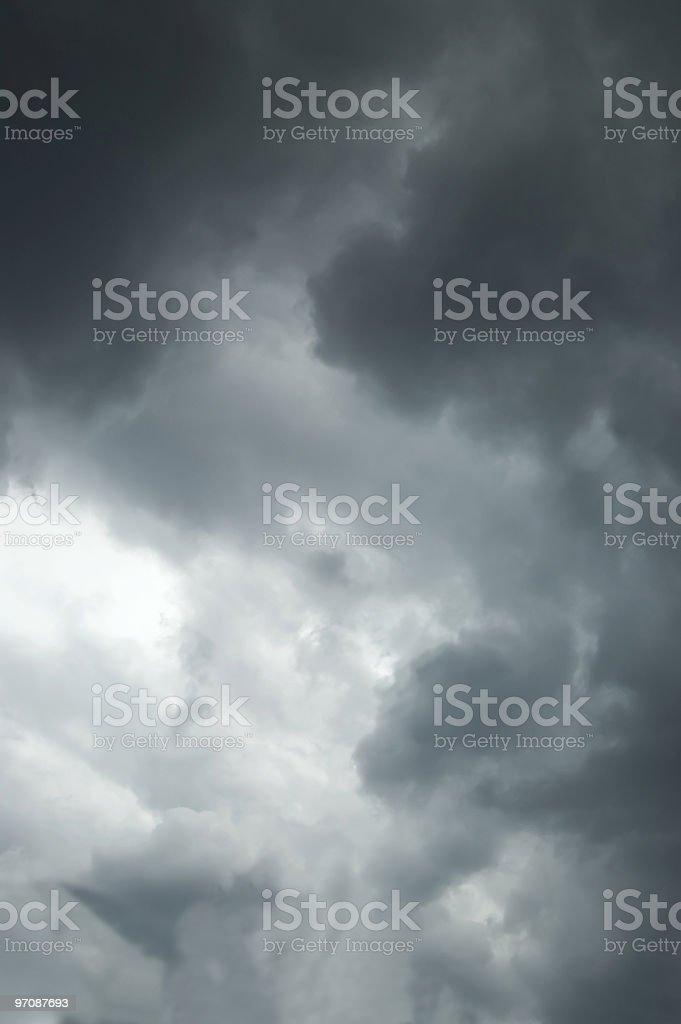 Dark clouds stock photo
