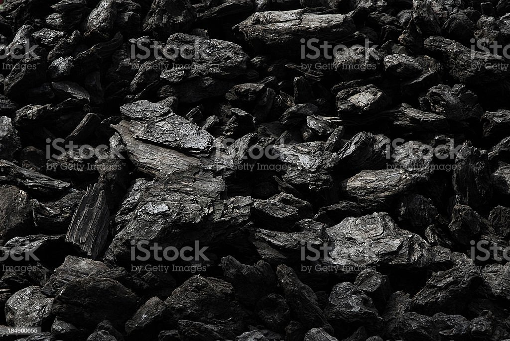 Dark Coal stock photo