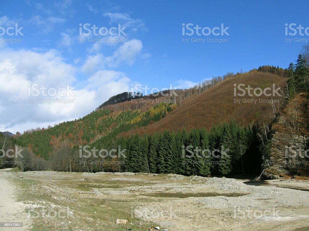 Dark color mountain royalty-free stock photo