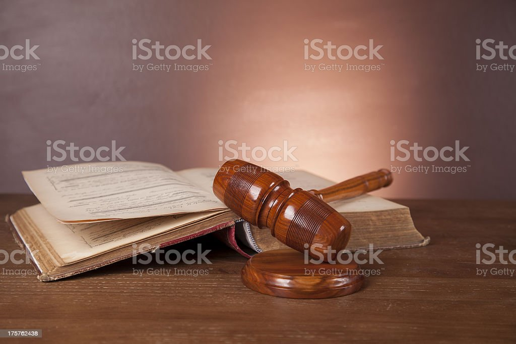 Dark composition with justice stuff royalty-free stock photo