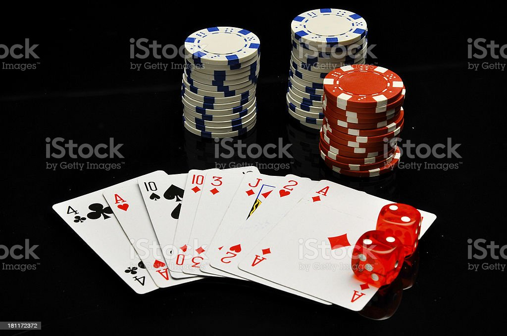Dark concept od gambling games royalty-free stock photo