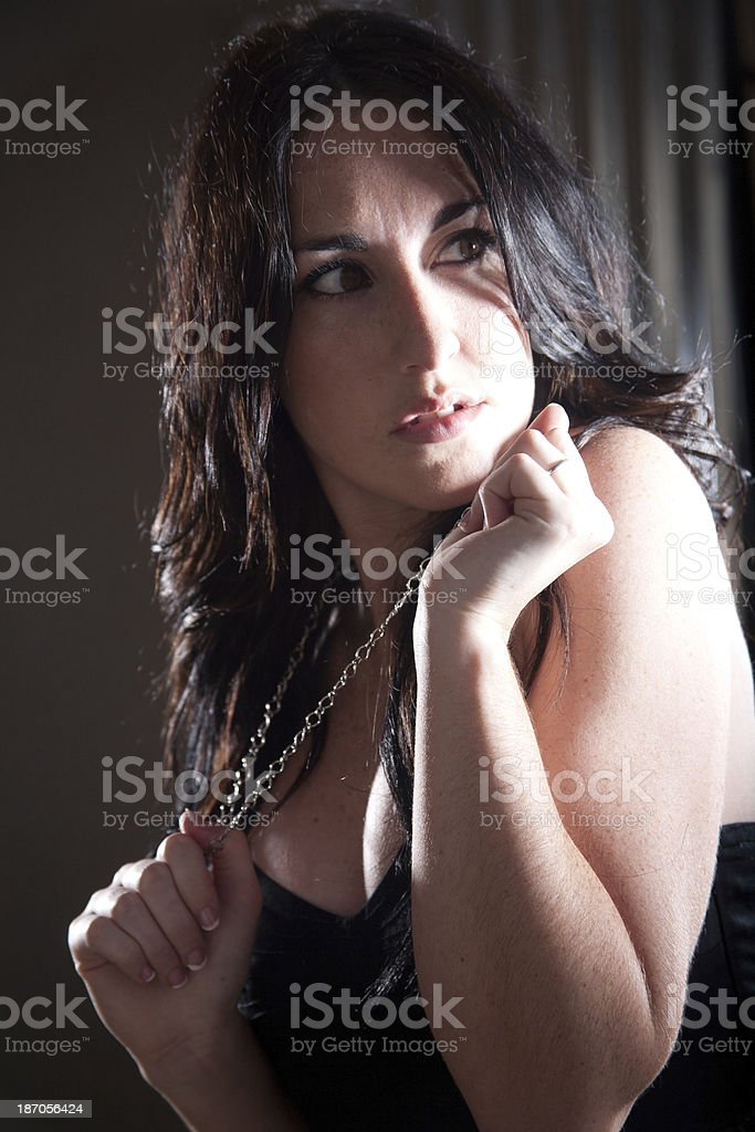 Dark Concerned Look royalty-free stock photo
