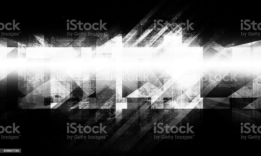 Dark concrete grungy chaotic structure stock photo