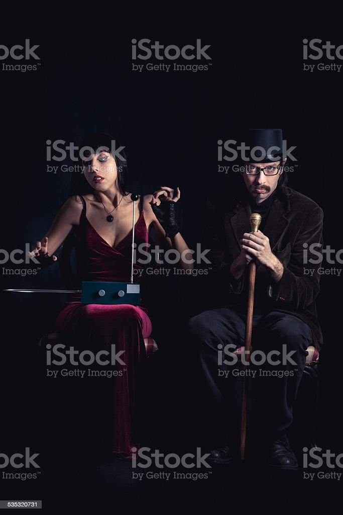 Dark couple portrait stock photo
