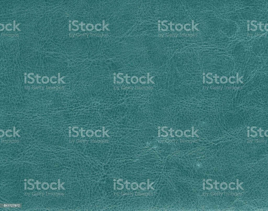 Dark cyan color leather texture stock photo