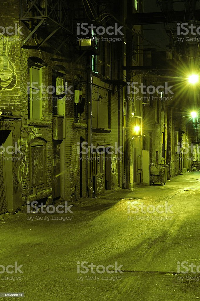 Dark Dangerous Alley royalty-free stock photo