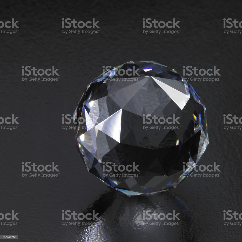 dark diamond sphere royalty-free stock photo