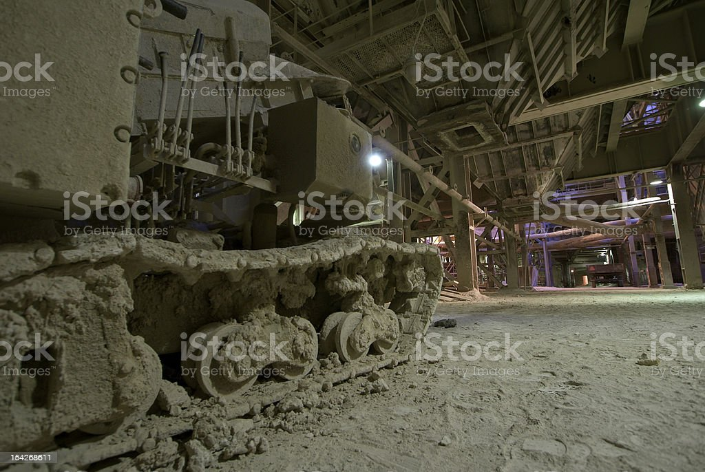 dark, dirty factory royalty-free stock photo