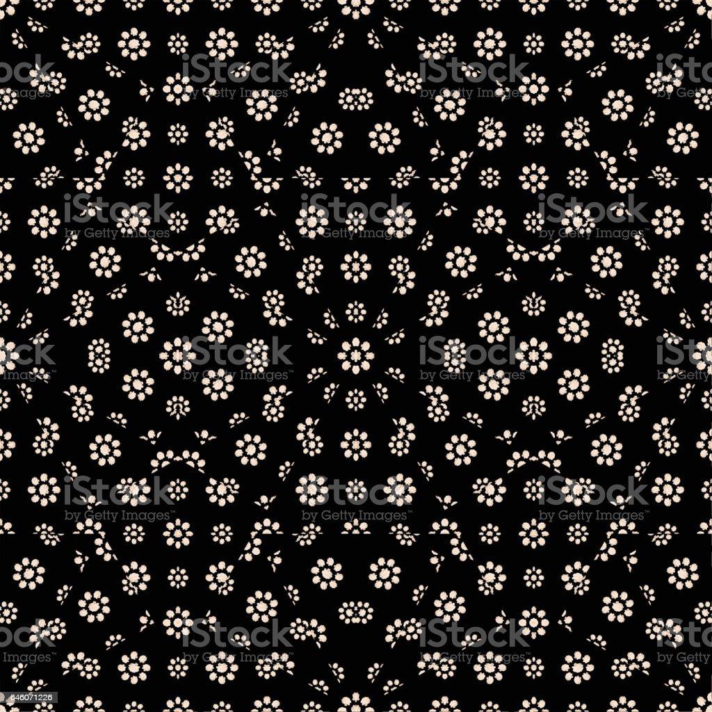Dark Ditsy Floral Pattern stock photo
