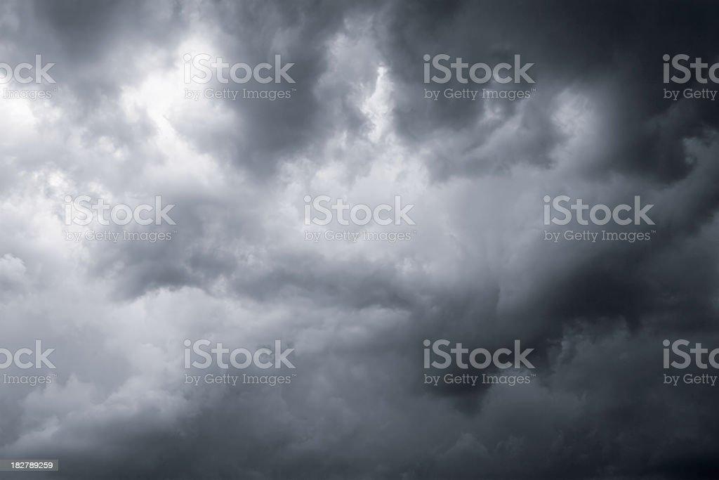 Dark dramatic clouds stock photo