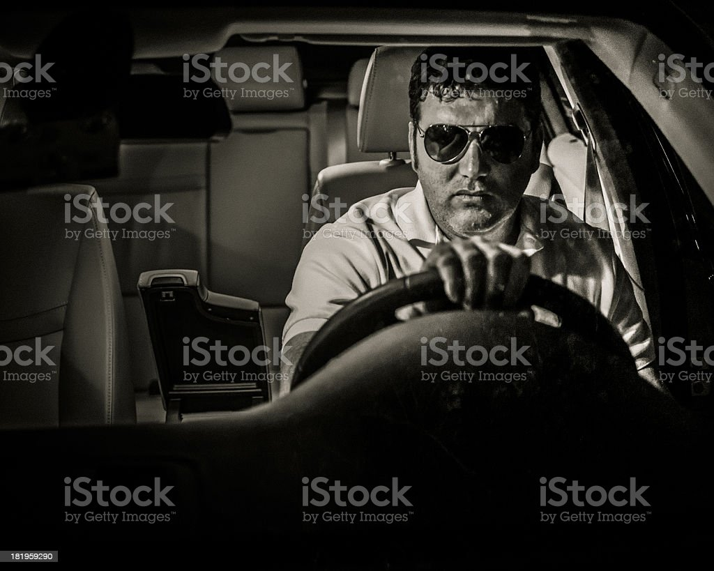 Dark Driver royalty-free stock photo