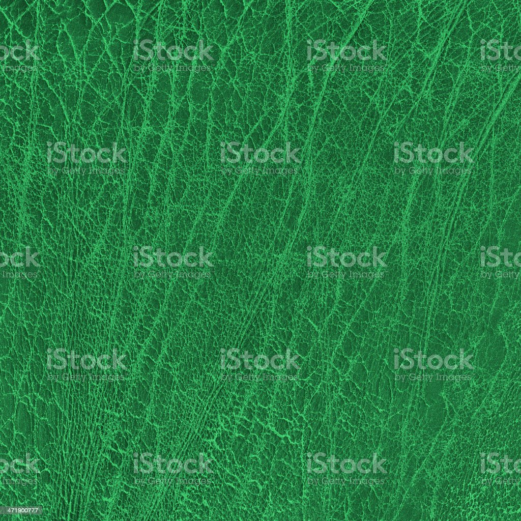 Dark Emerald Green Veal Leather Wizened Grunge Texture Sample royalty-free stock photo