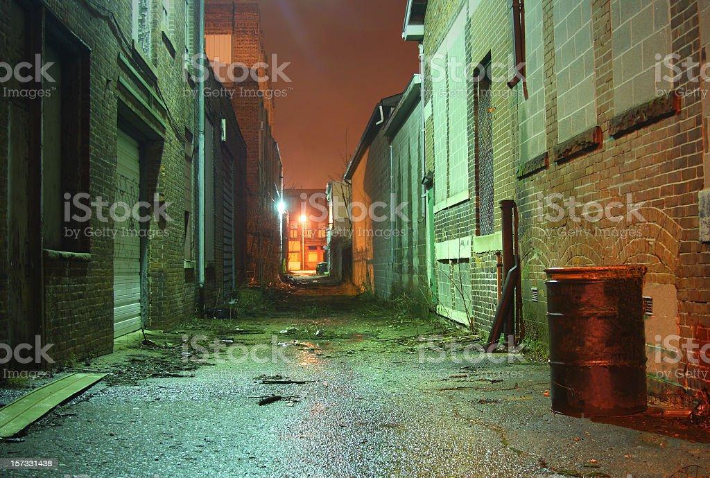 Dark Empty Alley stock photo