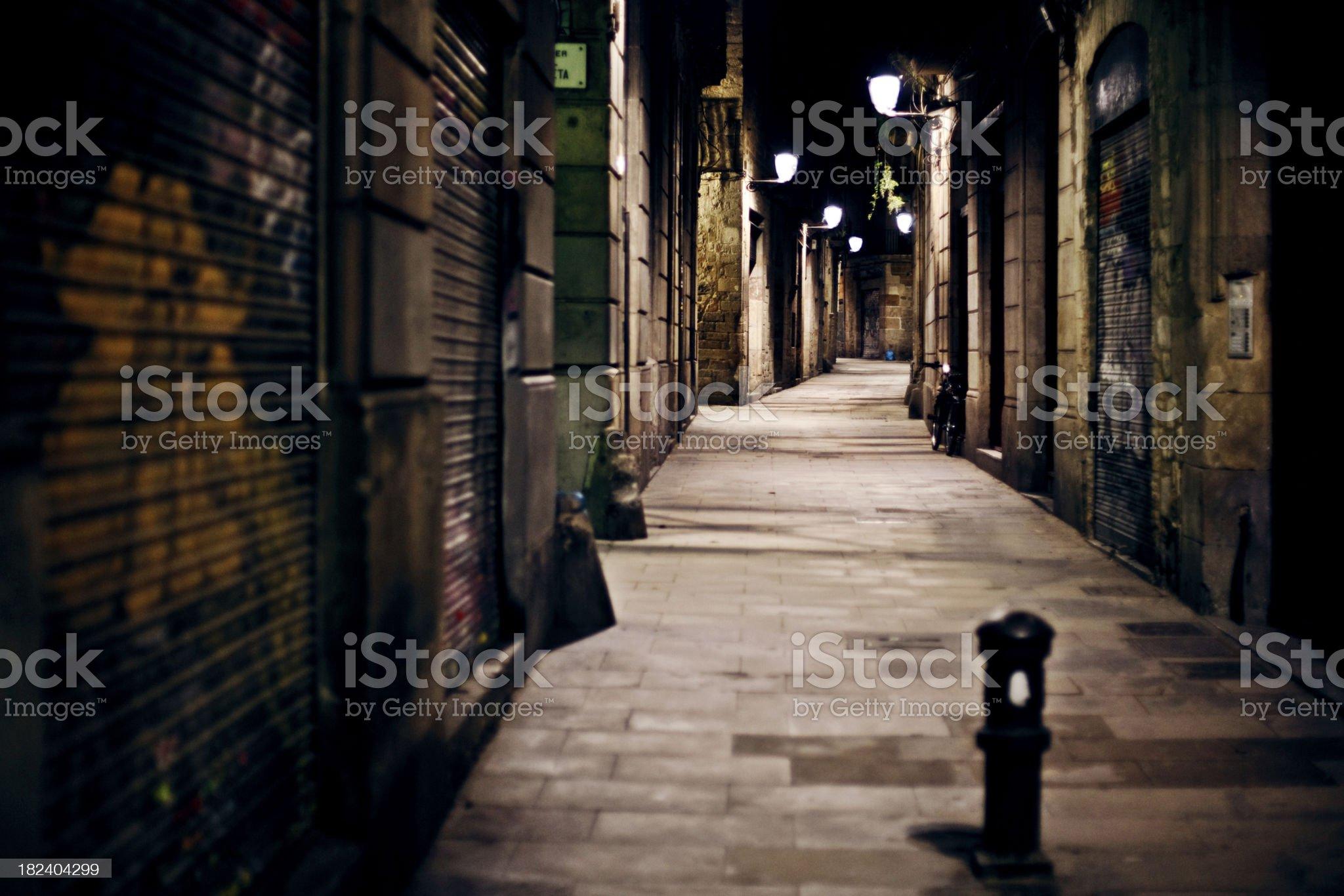 dark empty alley royalty-free stock photo
