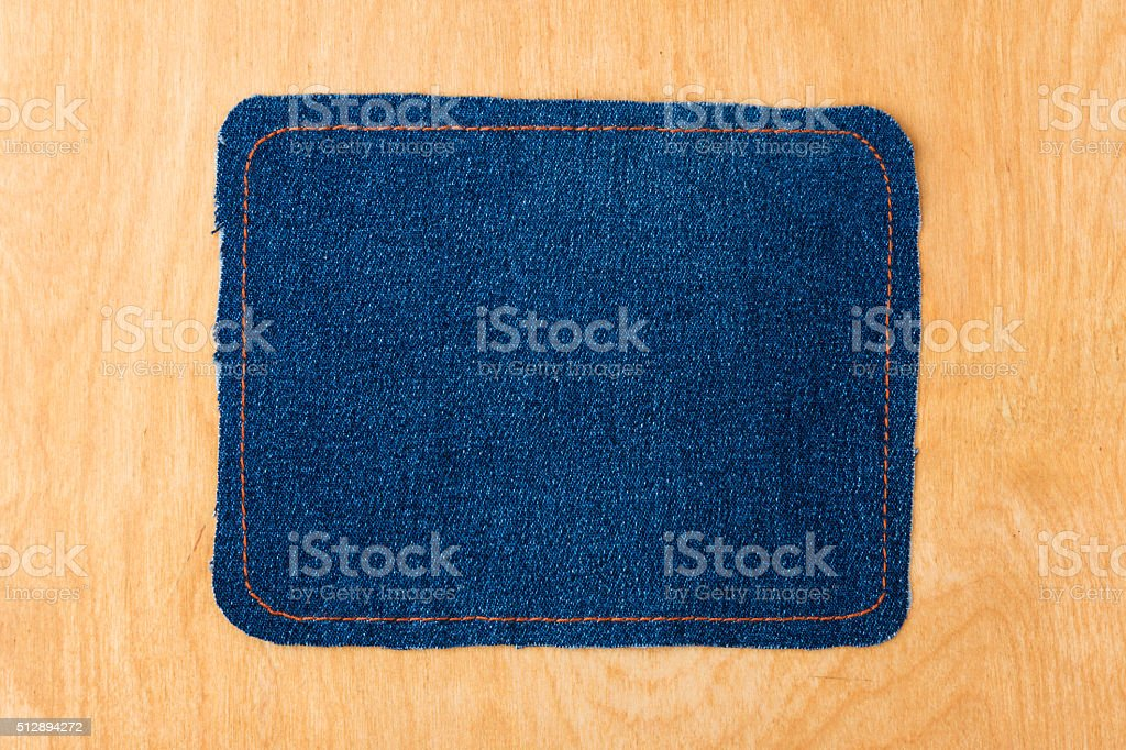 Dark frame made of denim stock photo