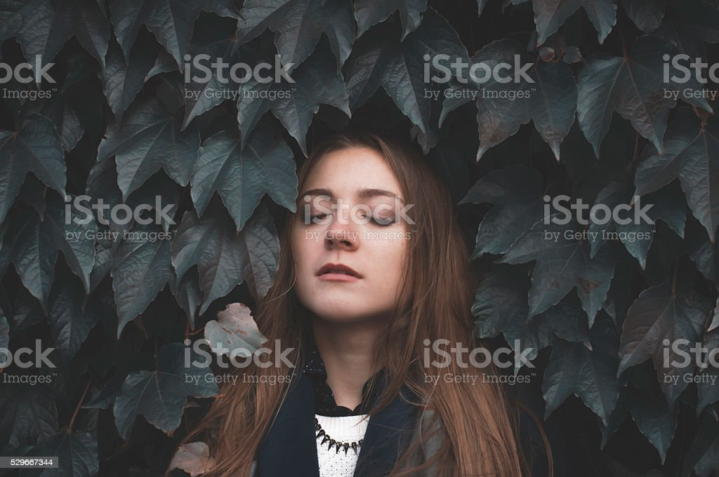 dark gothic scene stock photo