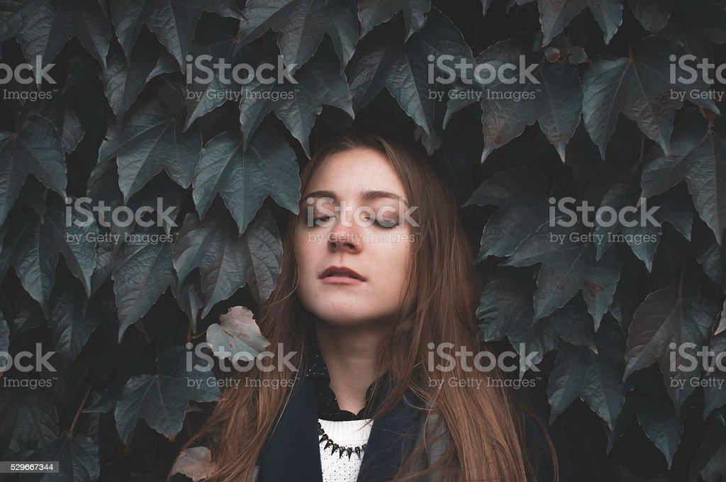 dark gothic scene stock photo