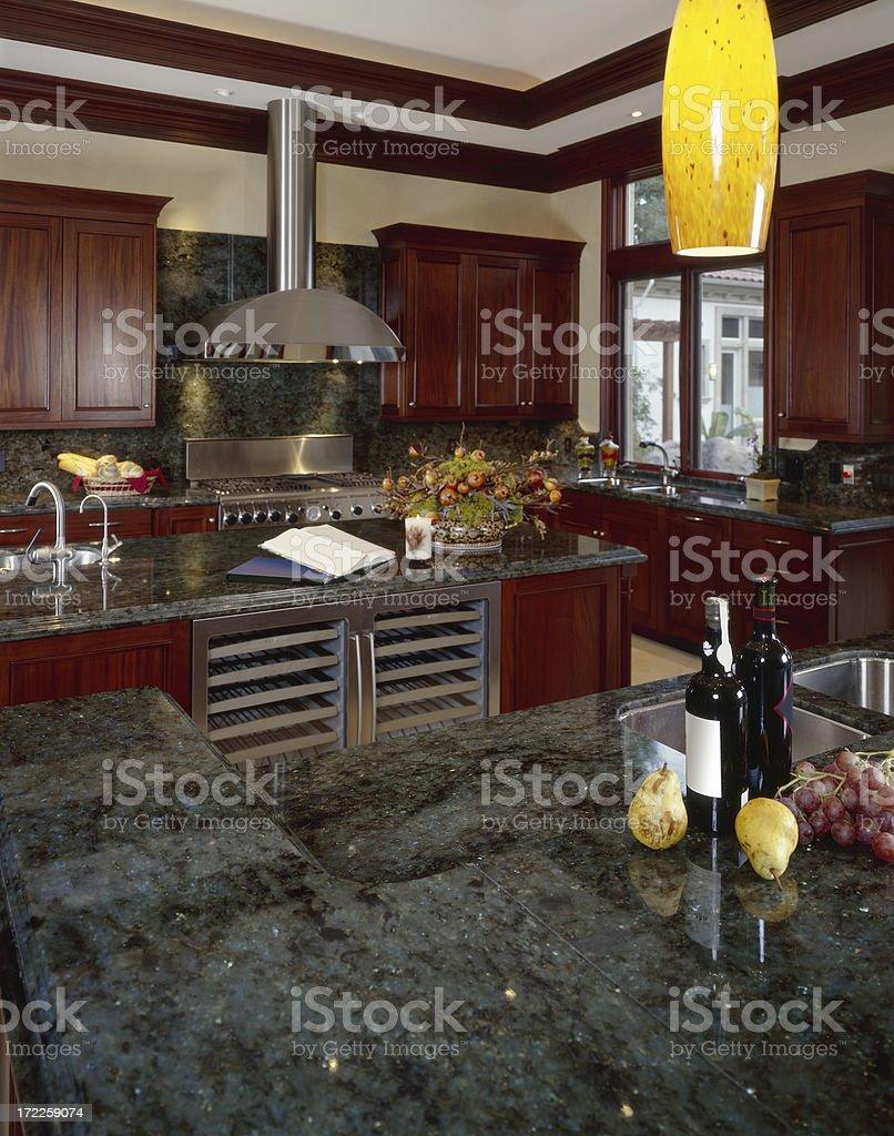 Dark Granite Kitchen Counter Top royalty-free stock photo