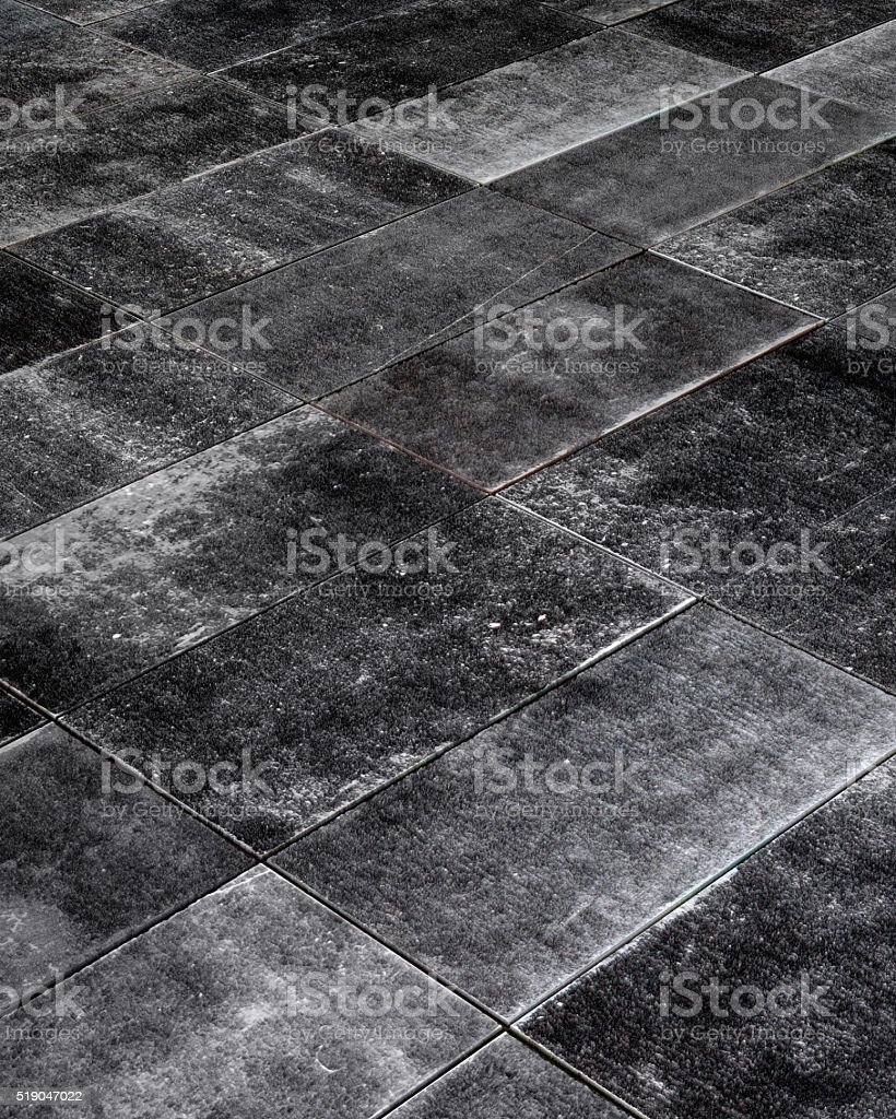 Dark Gray Concrete Tiles stock photo