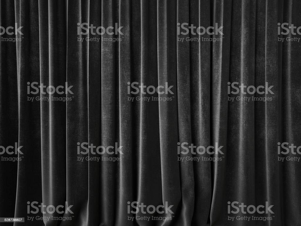 Dark gray curtain stock photo