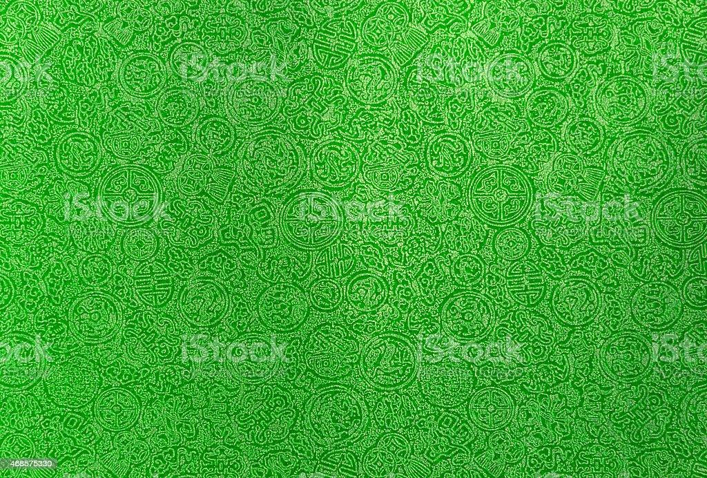 Dark green Chinese pattern royalty-free stock photo