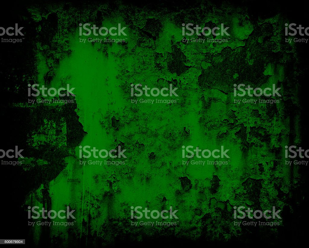 dark green grunge rusty metal wall background or texture stock photo