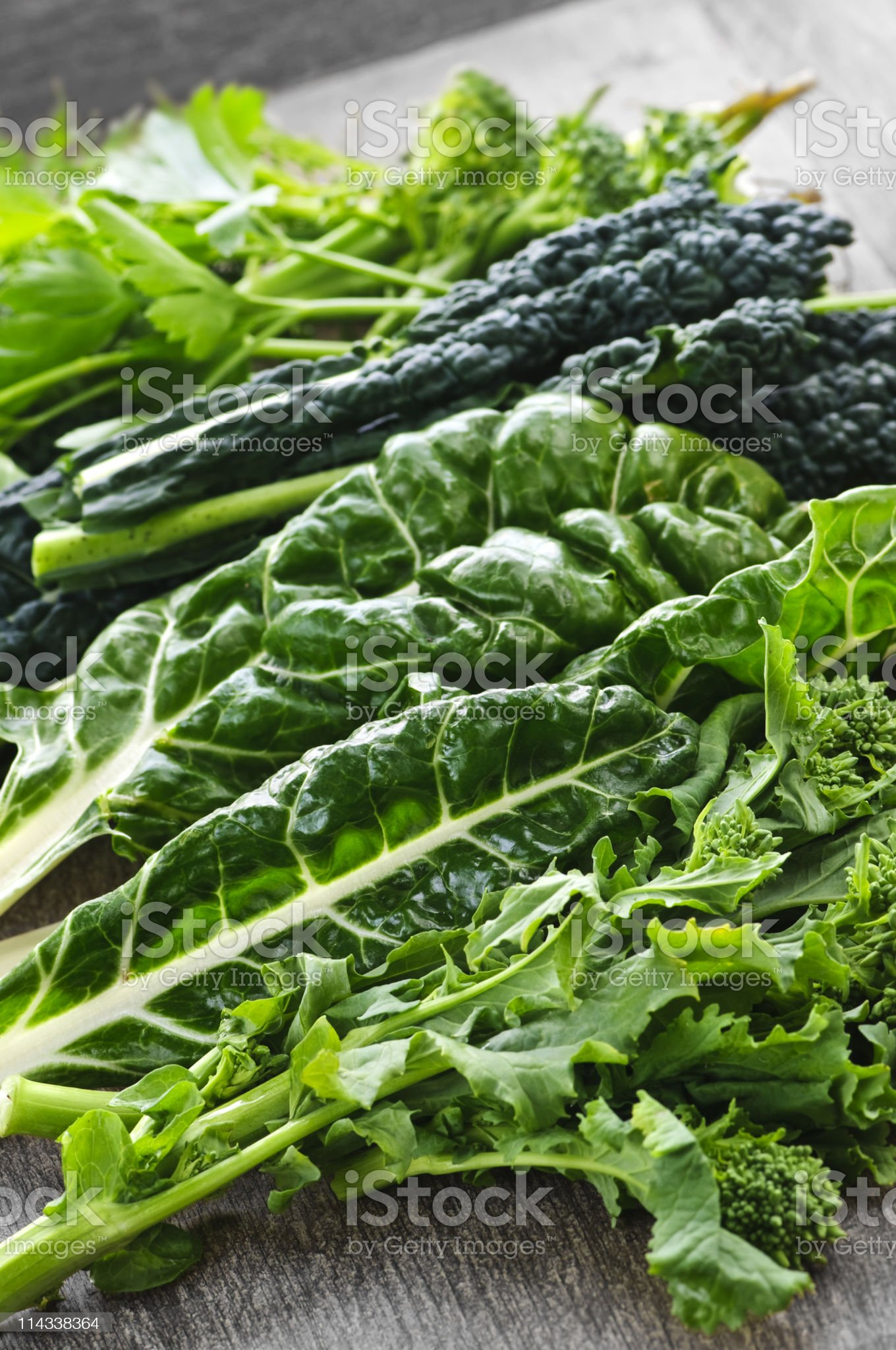 Dark green leafy vegetables royalty-free stock photo