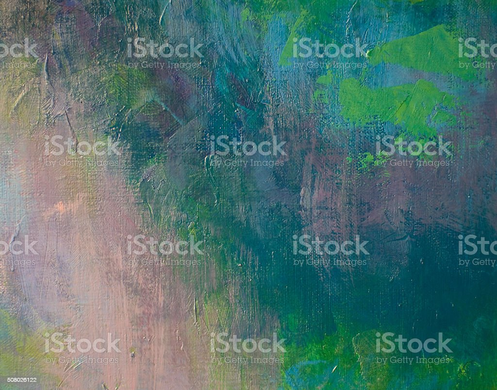 dark green oil on canvas, fragment stock photo