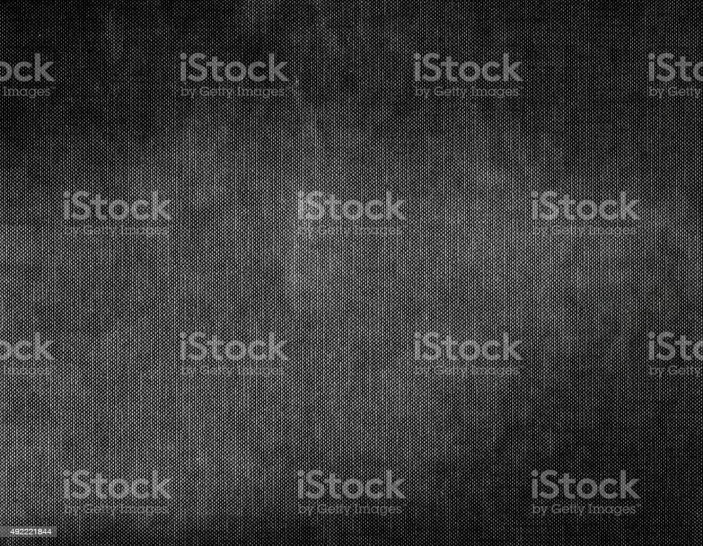 Dark grey and black grunge canvas background texture stock photo