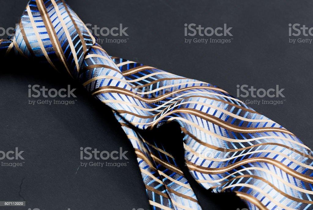 Dark grey tie stock photo