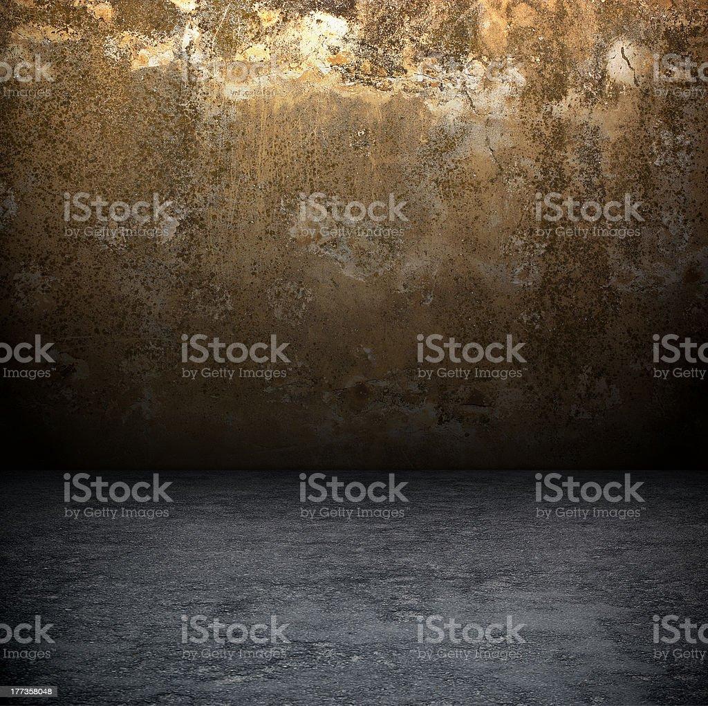 Dark Grunge Room. royalty-free stock photo