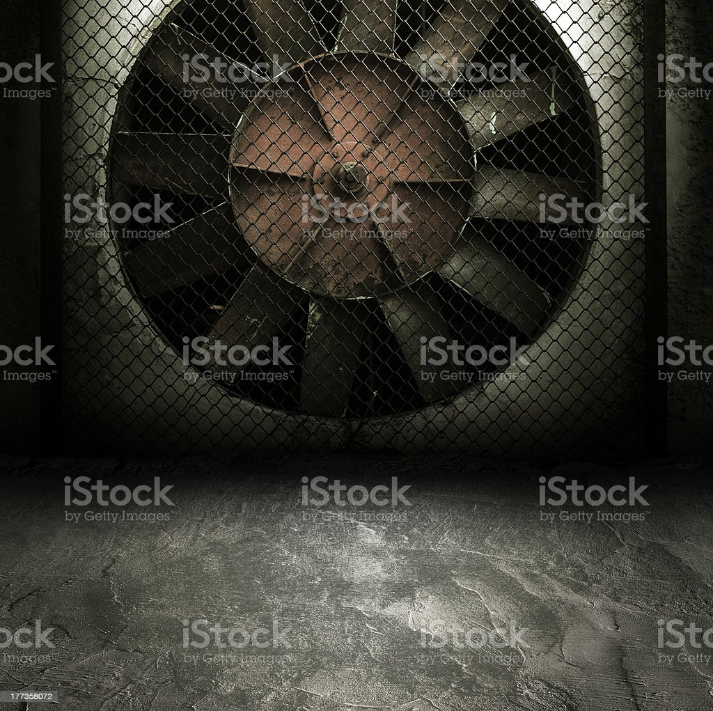 Dark Grunge Room. royalty-free stock photo