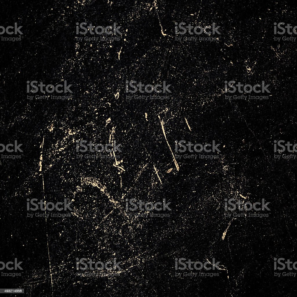 Dark grunge textured wall closeup - Black Chalk rubbed stock photo