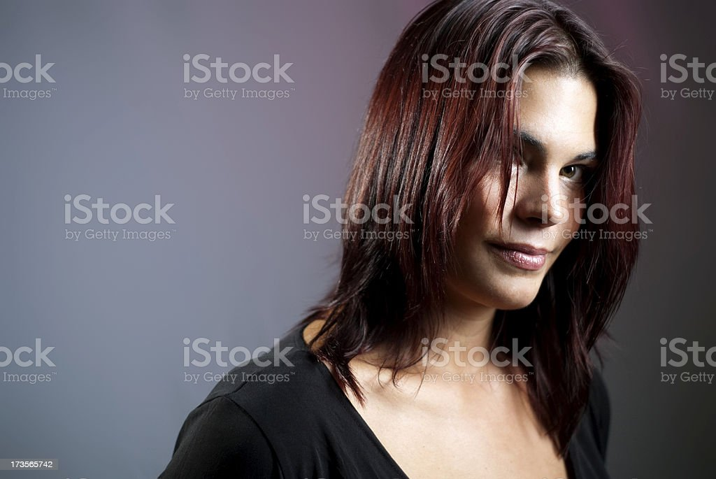 dark haired woman royalty-free stock photo
