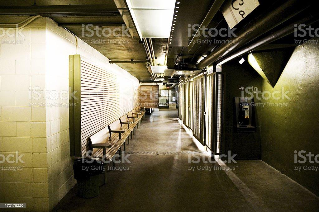 Dark Hall- Colour royalty-free stock photo