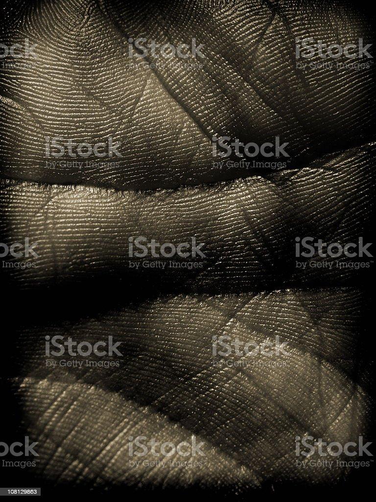 dark hand palm stock photo