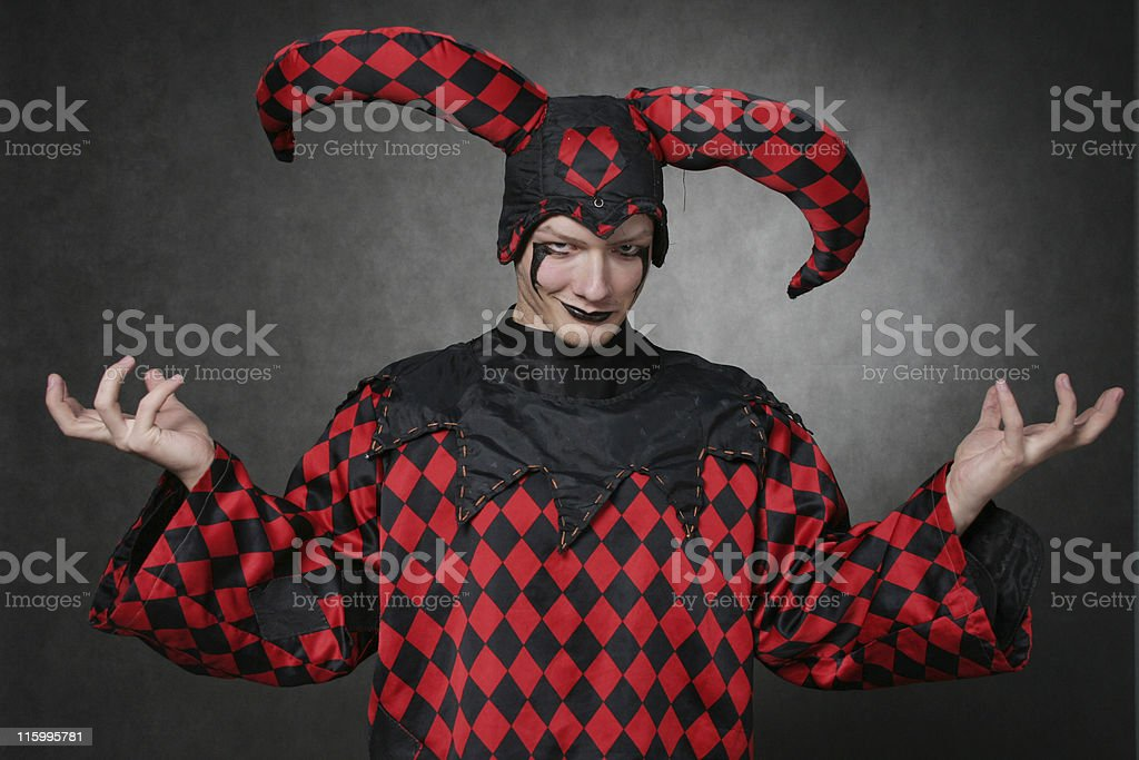 Dark harlequin stock photo