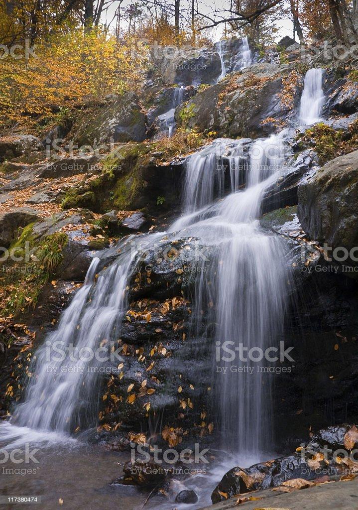 Dark Hollow Falls in Shenandoah National Park stock photo