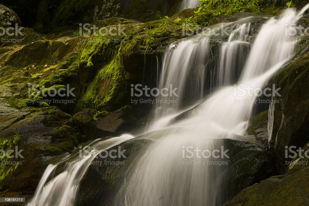 Dark hollow falls on Skyline drive, Shenandoah national park royalty-free stock photo