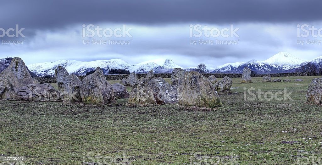 Dark Keswick Stone Circle royalty-free stock photo