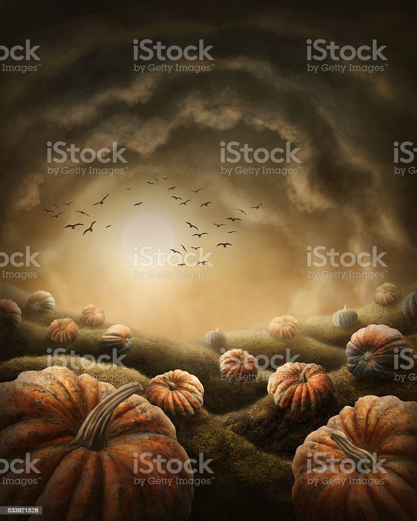 Dark landscape stock photo