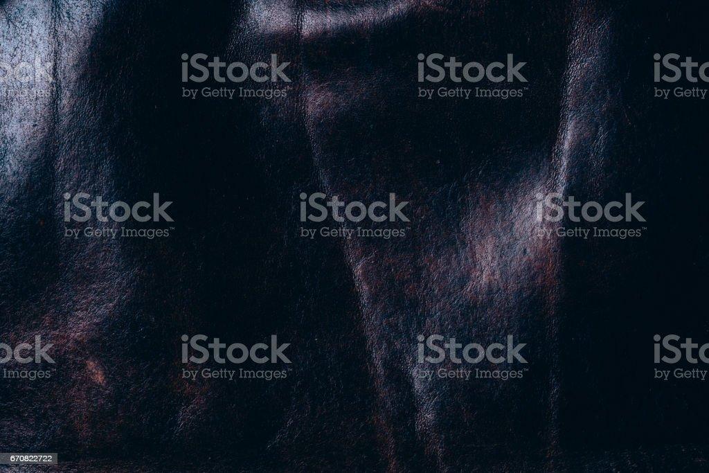 Dark leather background stock photo