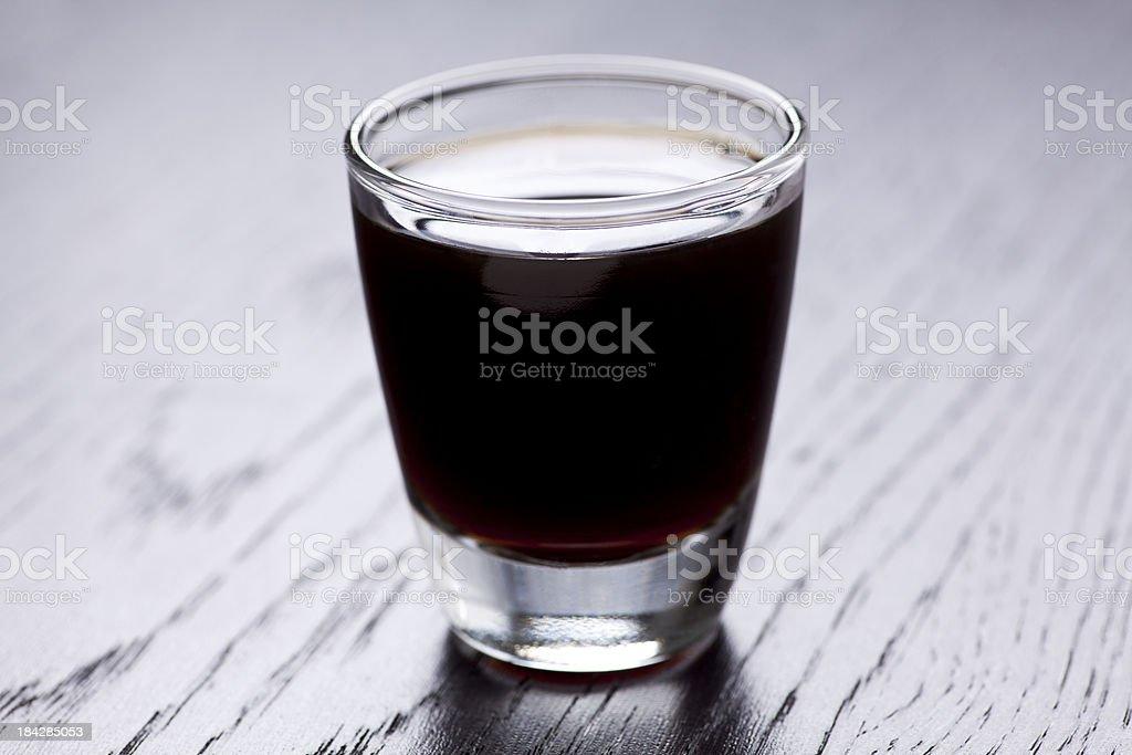 dark liquor shot stock photo