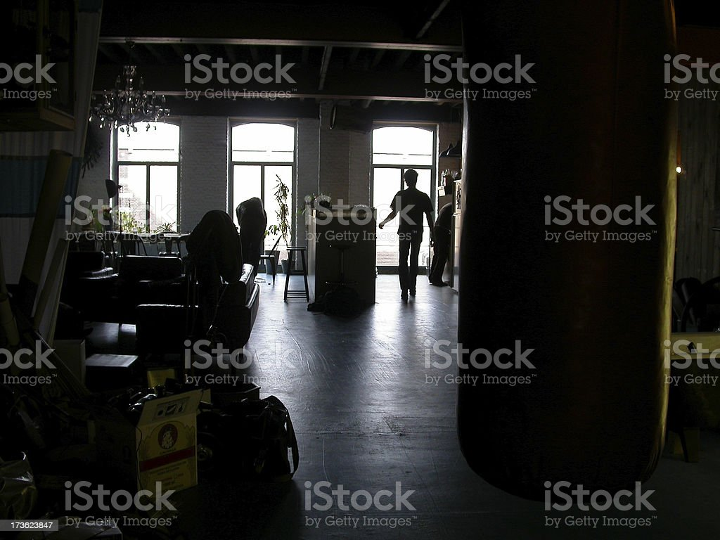 Dark Loft in Antwerp royalty-free stock photo