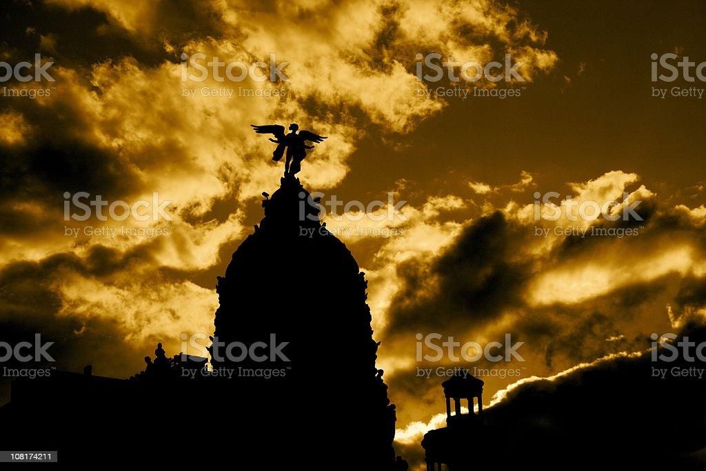 Dark Madrid stock photo