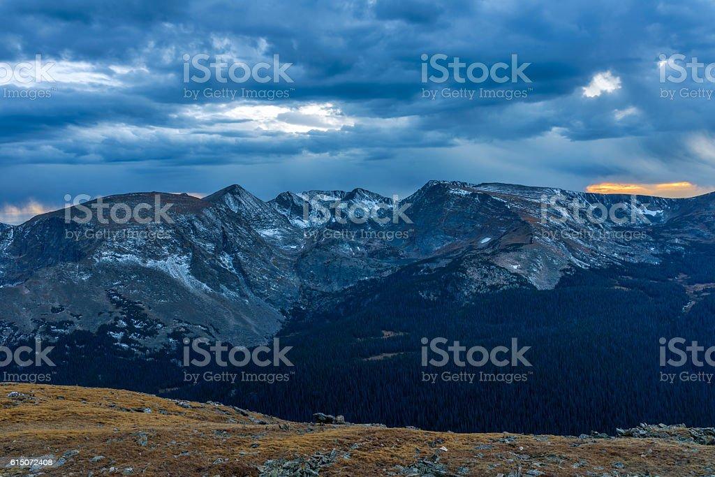 Dark Mountains stock photo