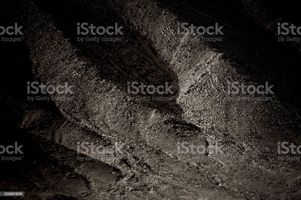 Dark mountainside stock photo