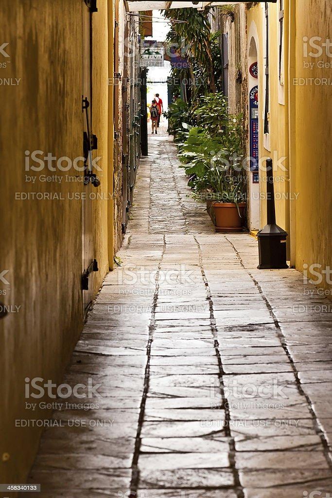 Dark Narrow Alley royalty-free stock photo