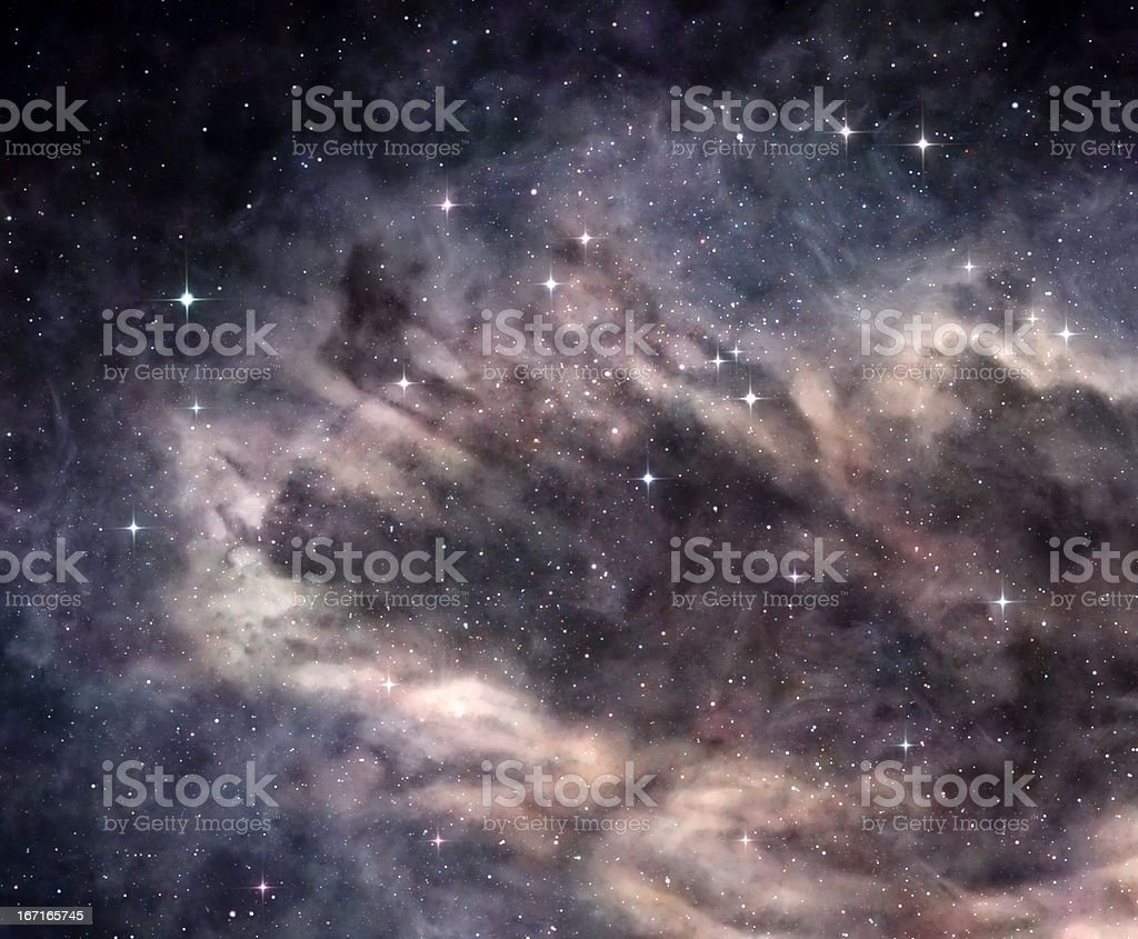Dark nebula in deep space royalty-free stock photo